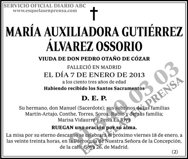 María Auxiliadora Gutiérrez Álvarez Ossorio